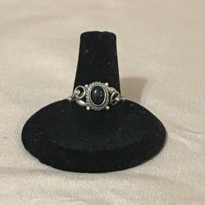 925 sterling silver & black onyx ring size 7.5